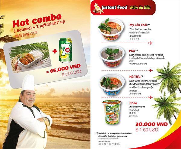 Dịch vụ ăn uống trên máy bay Vietjet