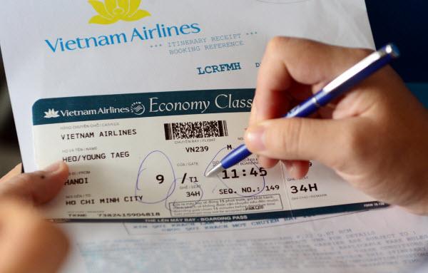 Hướng dẫn kiểm tra mã code vé máy bay Vietnam Airlines