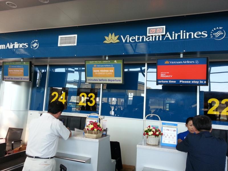 Thủ tục xuất cảnh Vietnam Airlines