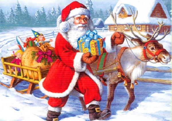 Ông già Noel cưỡi tuần lộc
