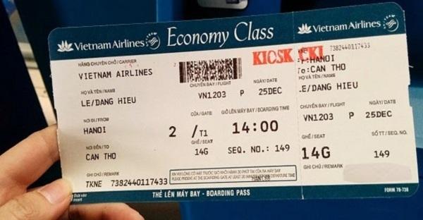 Các loại vé máy bay