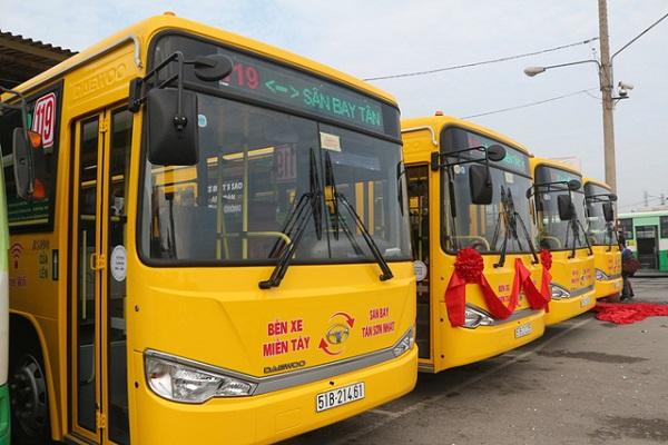Các tuyến xe buýt đi sân bay Tân Sơn Nhất