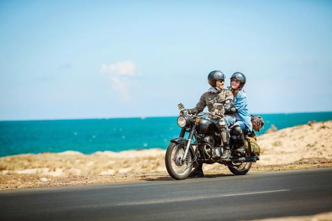 Lý tưởng và tự do tham quan với xe máy