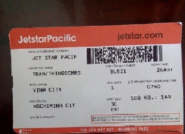 Giá vé máy bay Jetstar đi Vinh