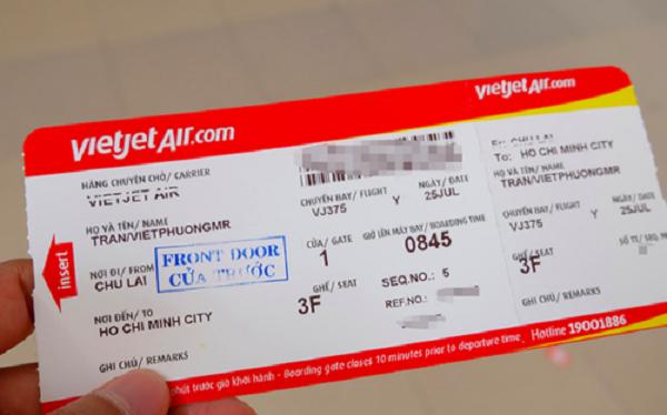 Đổi tên vé máy bay Vietjet