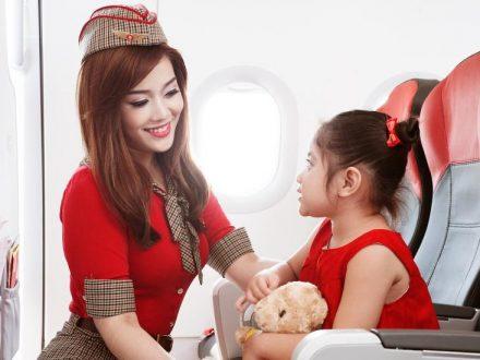 Trẻ em dưới 2 tuổi đi máy bay Vietjet Air