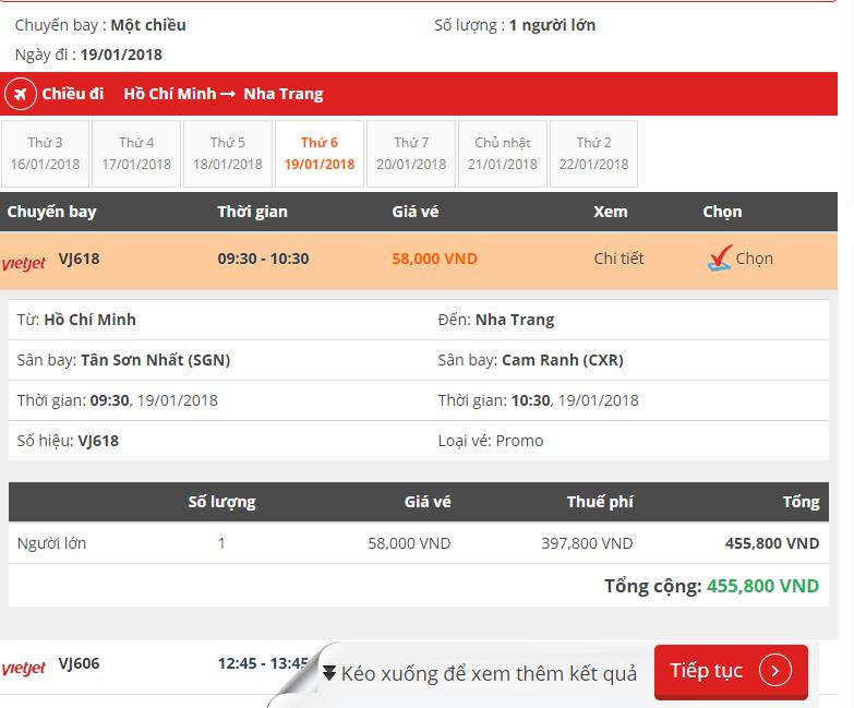 Tìm chuyến bay Vietjet, Jetstar, Vietnam Airlines giá rẻ