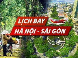 Lịch bay Hà Nội Sài Gòn chi tiết của Vietnam Airlines, Vietjet, Jetstar