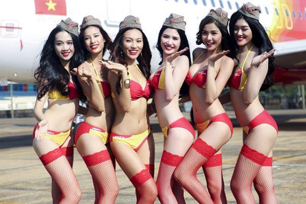 Vietjet bikini – Những tấm hình đốt mắt người xem