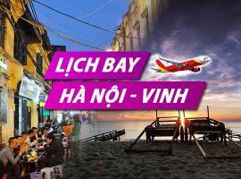 Lịch bay Hà Nội Vinh chi tiết của Vietnam Airlines