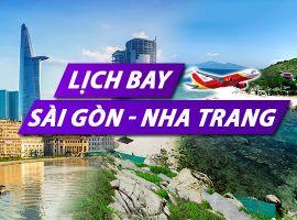 Lịch bay Sài Gòn Nha Trang chi tiết của Vietnam Airlines, Vietjet, Jetstar